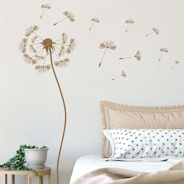 Wandtattoo No 252 Pusteblume mit fliegenden Blüten