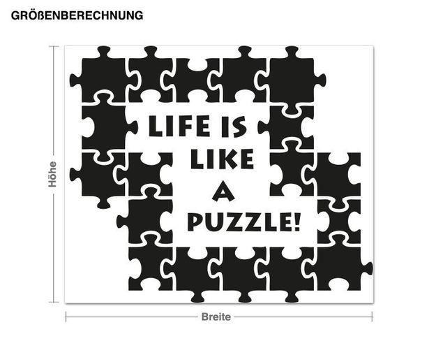 Wandtattoo Puzzle