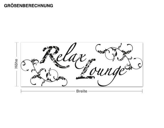 Wandtattoo Relax Lounge
