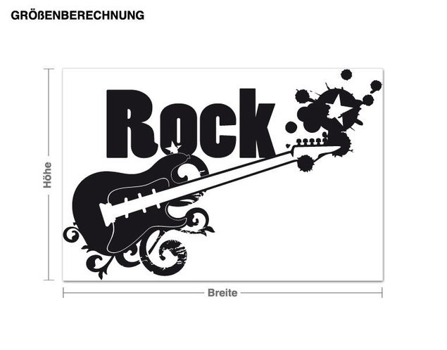 Wandtattoo Rock