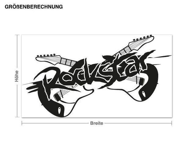 Wandtattoo Rockstar