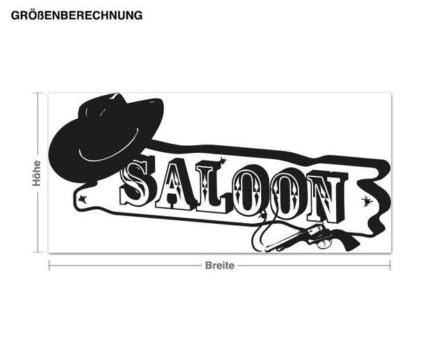 Wandtattoo Saloon