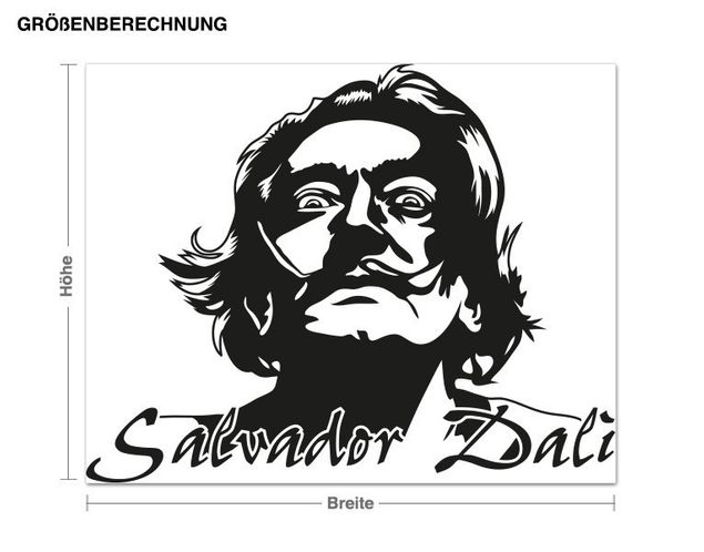 Wandtattoo Salvador Dali
