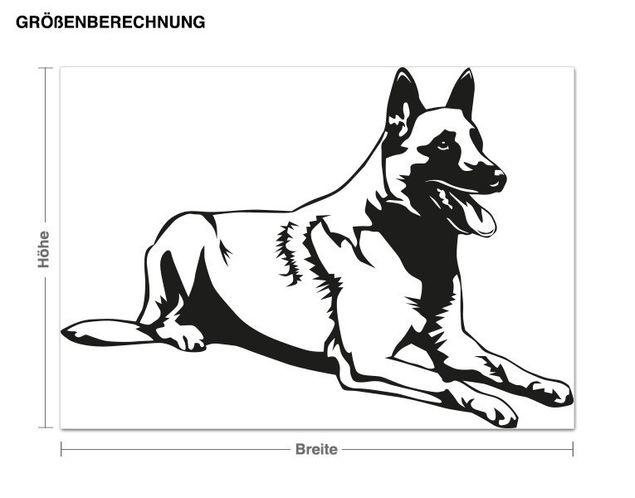 Wandtattoo Schäferhund