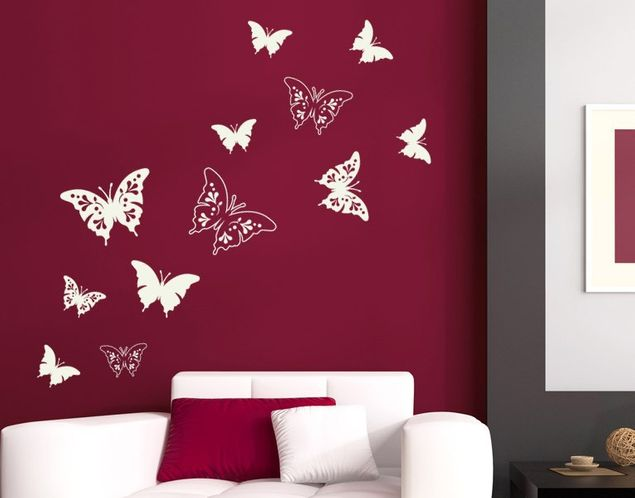 Wandtattoo Schmetterlinge Deko Ornamente