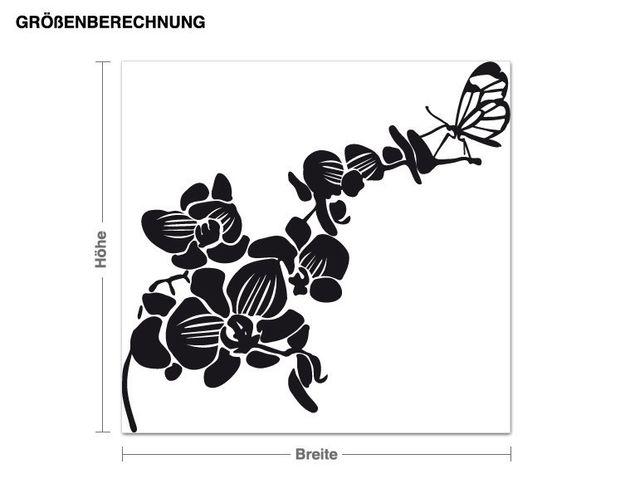 Wandtattoo Schmetterlingorchidee