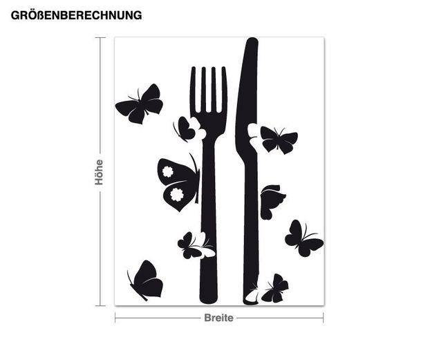 Wandtattoo Schmetterlings-Besteck