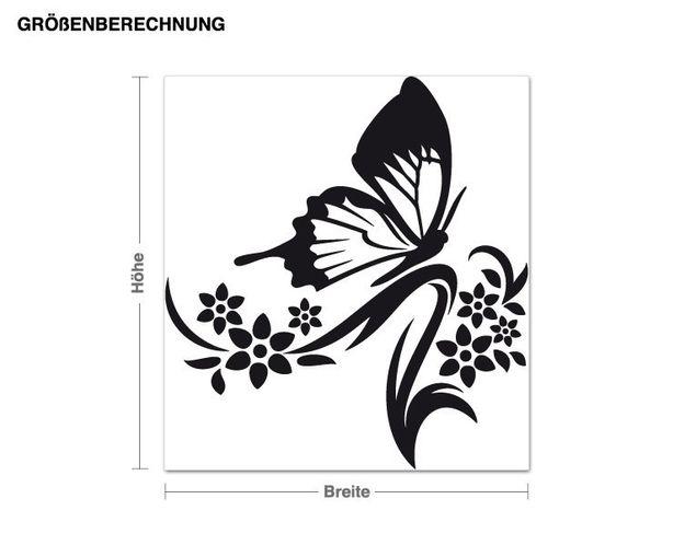 Wandtattoo Schmetterlingszweig