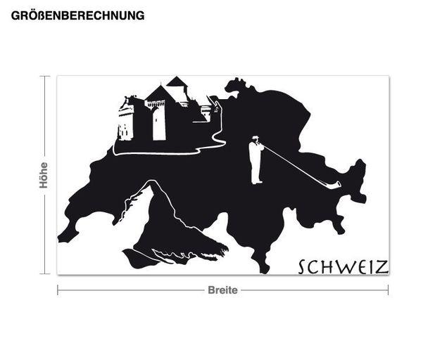 Wandtattoo Schweiz