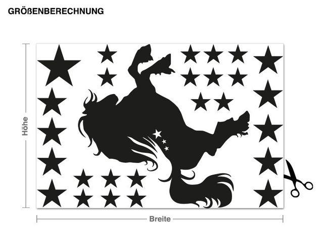 Wandtattoo-Set Pferd mit Sternen