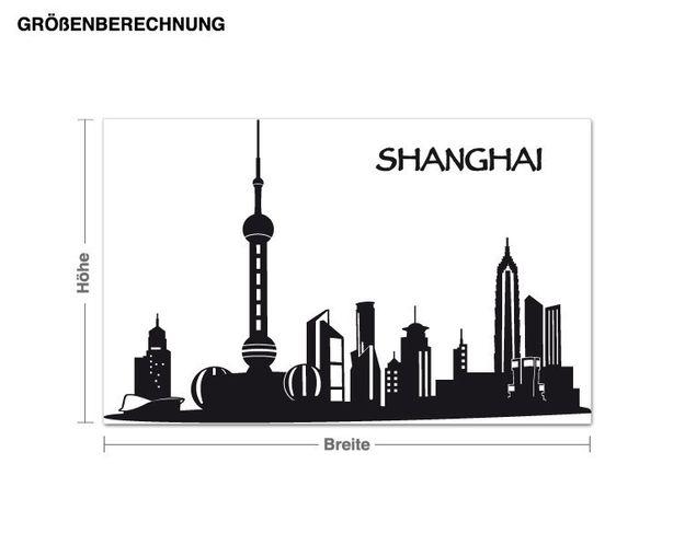 Wandtattoo Shanghai