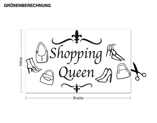 Wandtattoo Shopping-Queen