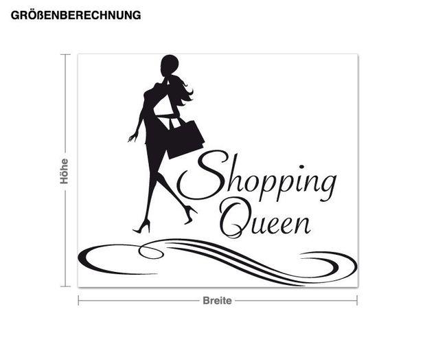 Wandtattoo Shopping Queen