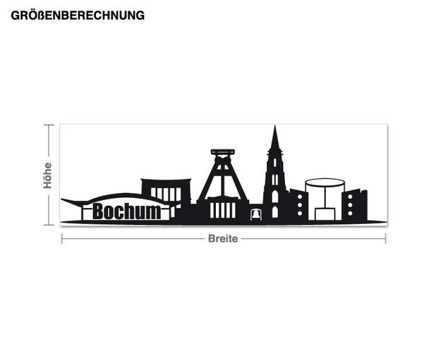Wandtattoo Skyline Bochum