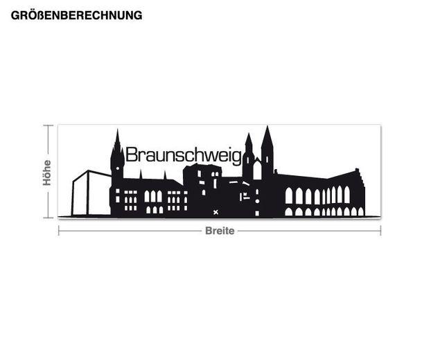 Wandtattoo Skyline Braunschweig