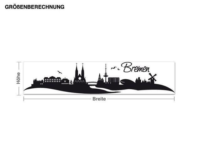 Wandtattoo Skyline Bremen