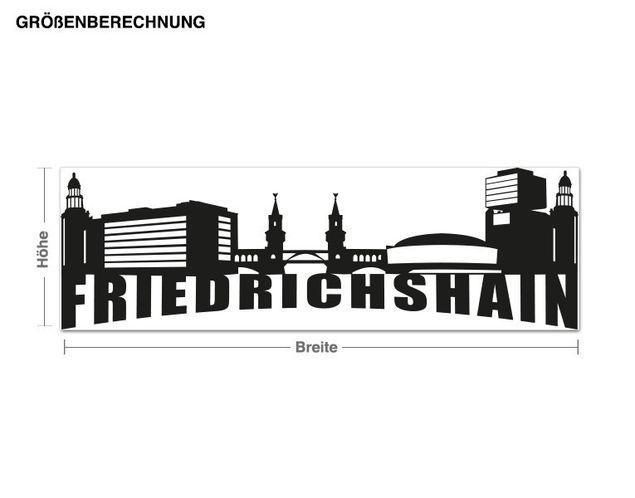 Wandtattoo Skyline Friedrichshain