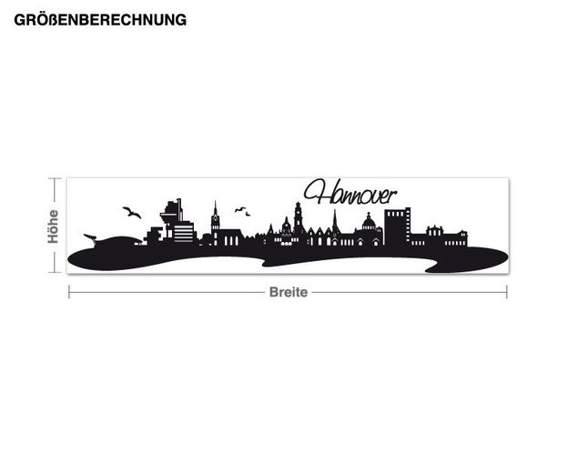 Wandtattoo Skyline Hannover