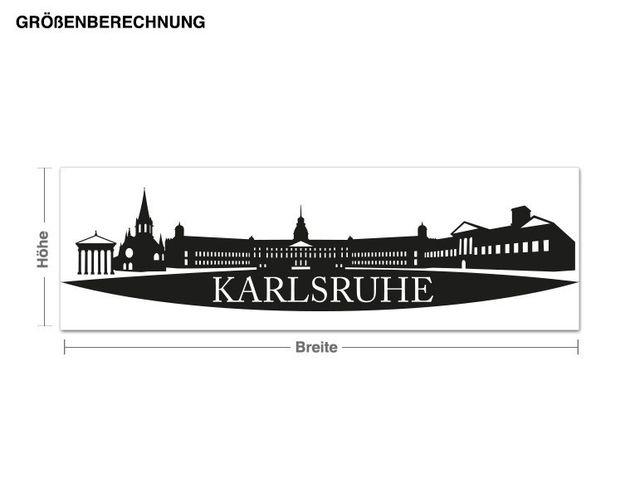 Wandtattoo Skyline Karlsruhe