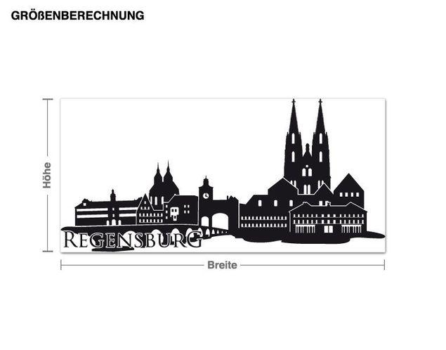 Wandtattoo Skyline Regensburg