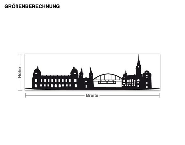 Wandtattoo Skyline Wuppertal