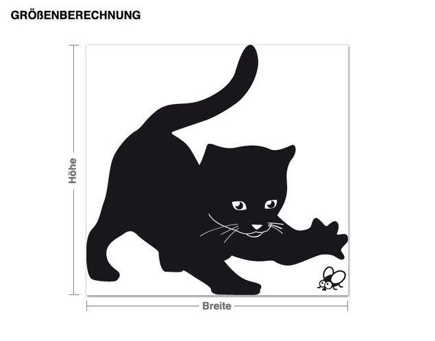Wandtattoo Spielende Katze