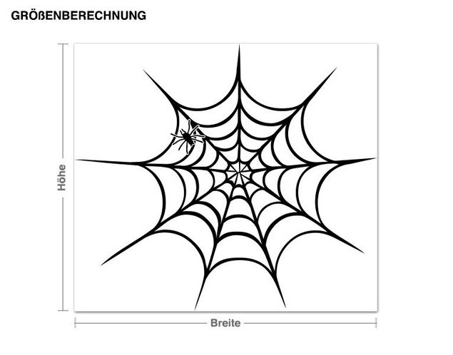 Wandtattoo Spinnennetz