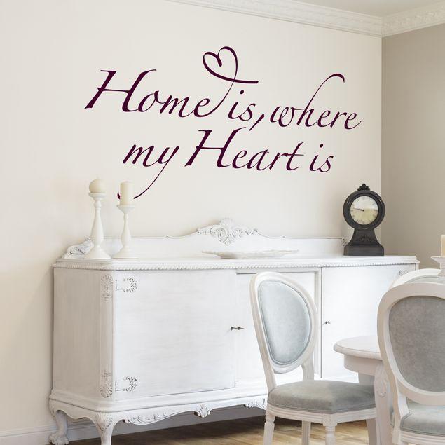 Wandtattoo Sprüche - Wandsprüche No.BR255 home is where my heart is