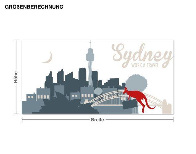 Wandtattoo Steinbeck Sydney - Work & Travel