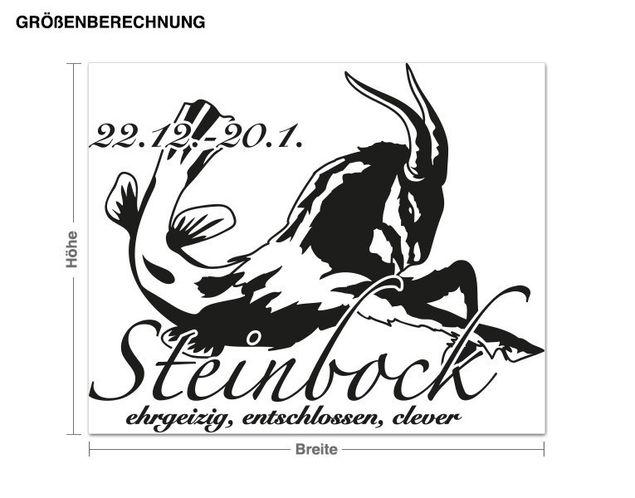 Wandtattoo Steinbock