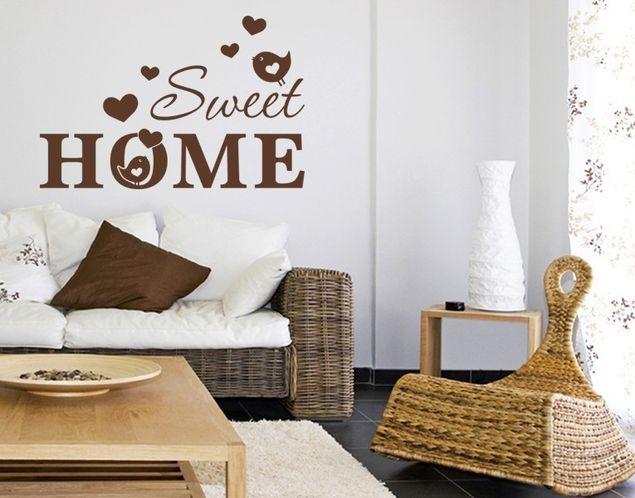 Wandtattoo Sweet Home Vöglein