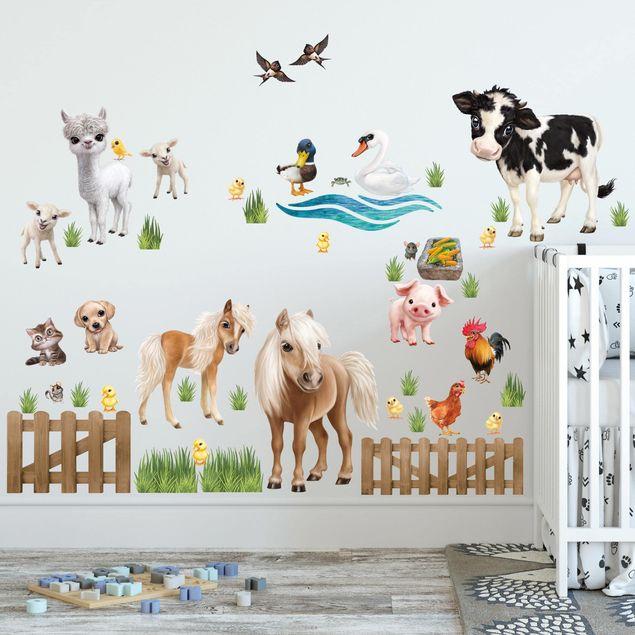 Wandtattoo Animal Club International Kinder Tiere Auf Dem Bauernhof Mega Set Bilderwelten De