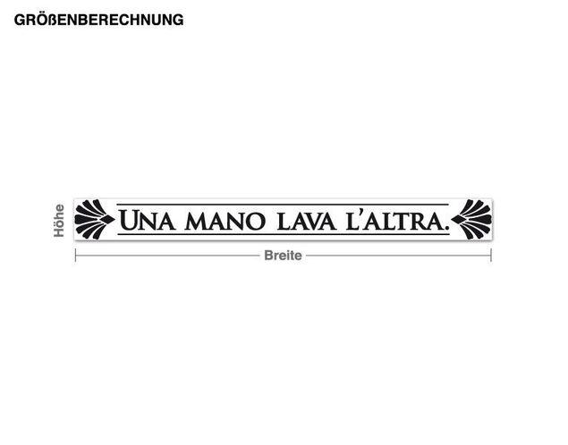 Wandtattoo Una Mano Lava