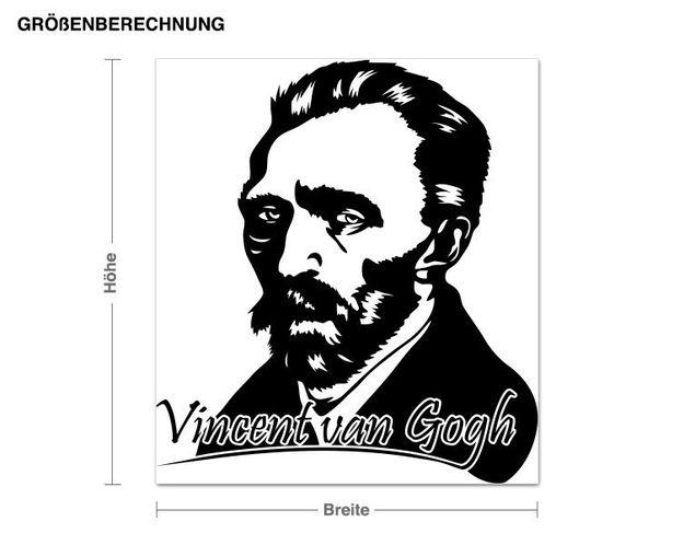 Wandtattoo Vincent van Gogh