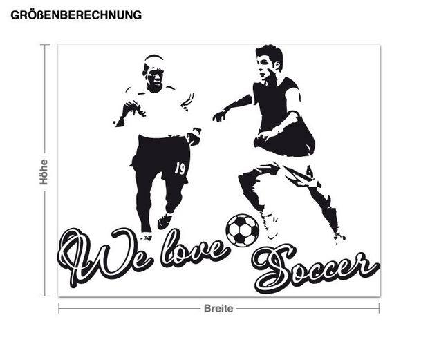 Wandtattoo We love Soccer