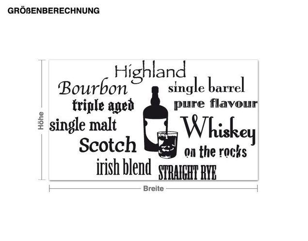 Wandtattoo Whiskey Variationen