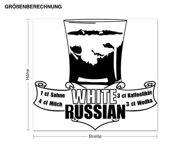 Wandtattoo White Russian