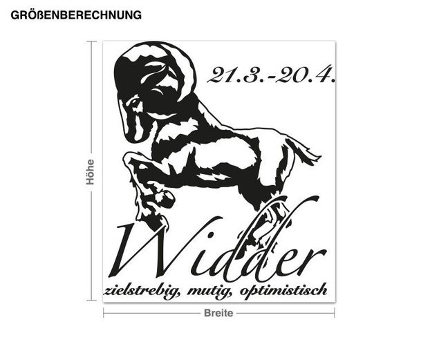 Wandtattoo Widder
