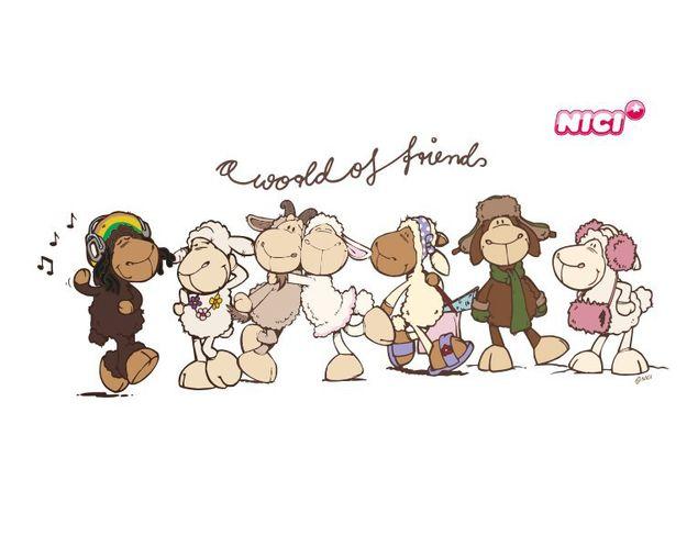 Wandtattoo World of Friends