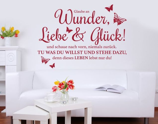Wandtattoo Wunder, Liebe & Glück