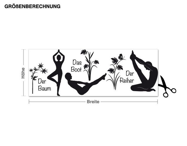 Wandtattoo Yoga Figuren Set 2