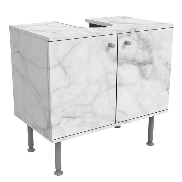 Waschbeckenunterschrank - Bianco Carrara - Badschrank