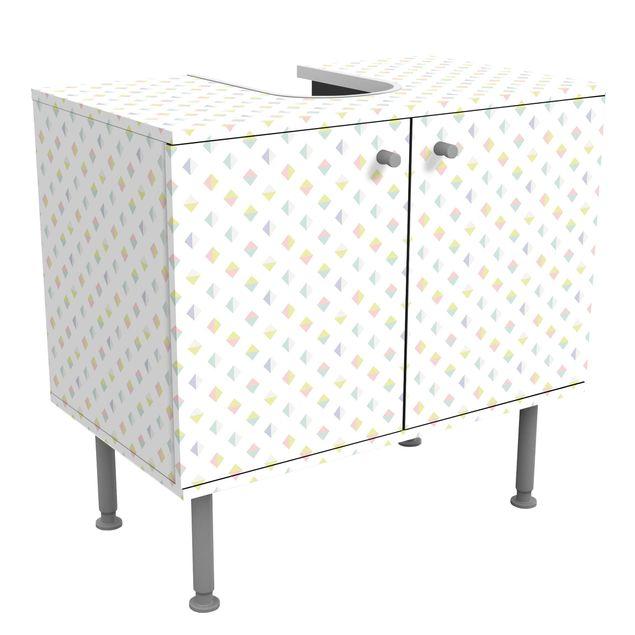 Waschbeckenunterschrank - Pastell Dreiecke - Badschrank
