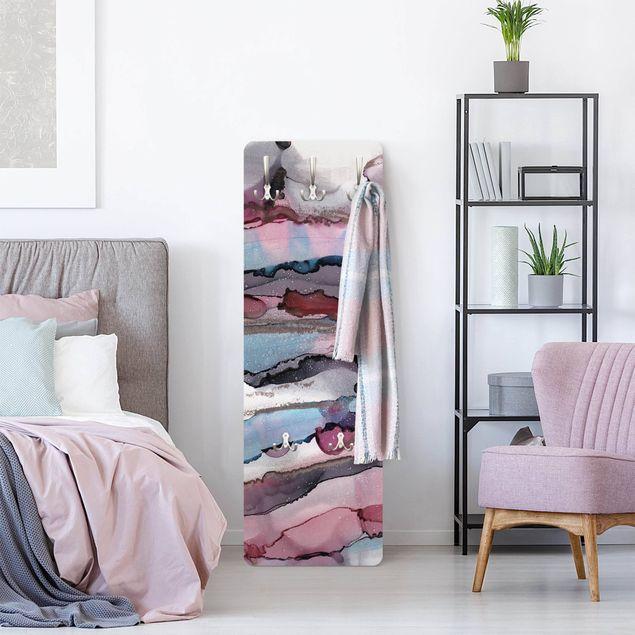 Garderobe - Wellenreiten in Violett mit Roségold