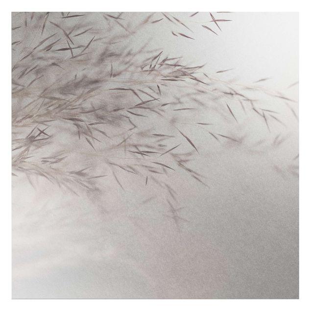 Metallic Tapete - Wiesengras Close Up