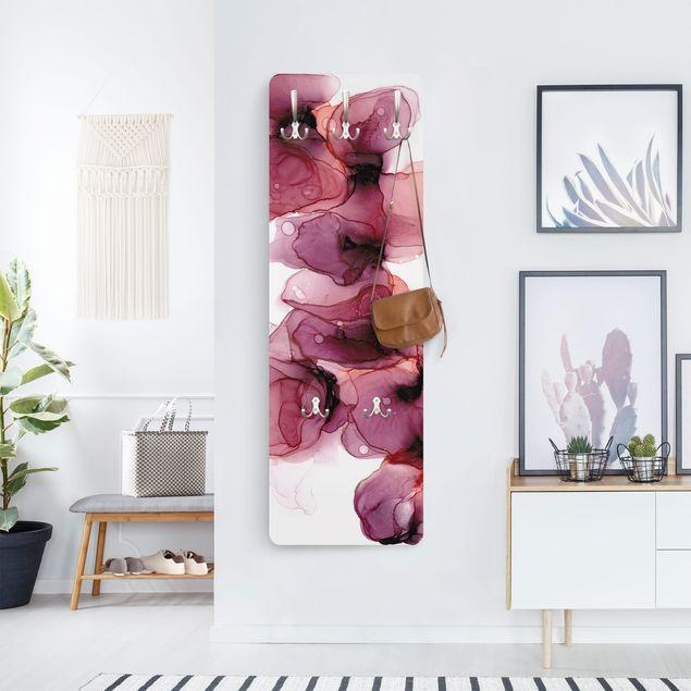 Garderobe - Wilde Blüten in Violett und Gold