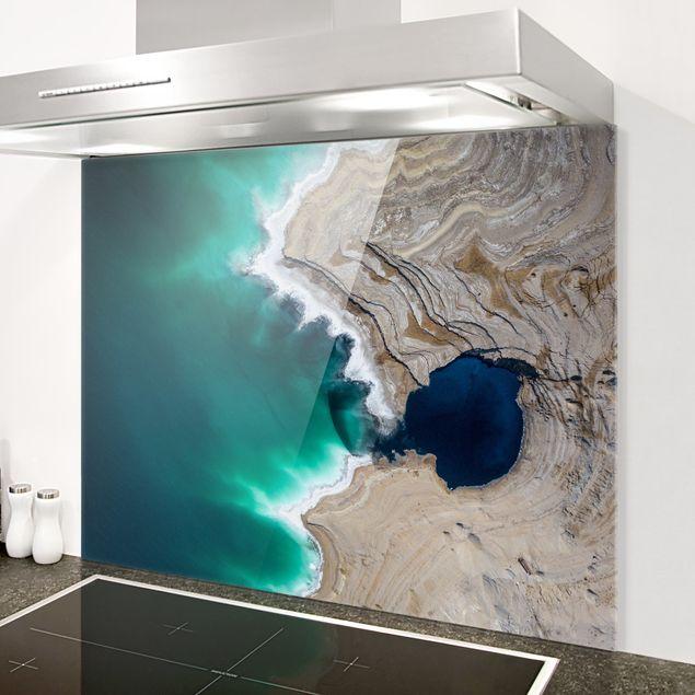 Spritzschutz Glas - Wilde Küstenbucht in Israel - Querformat 4:3