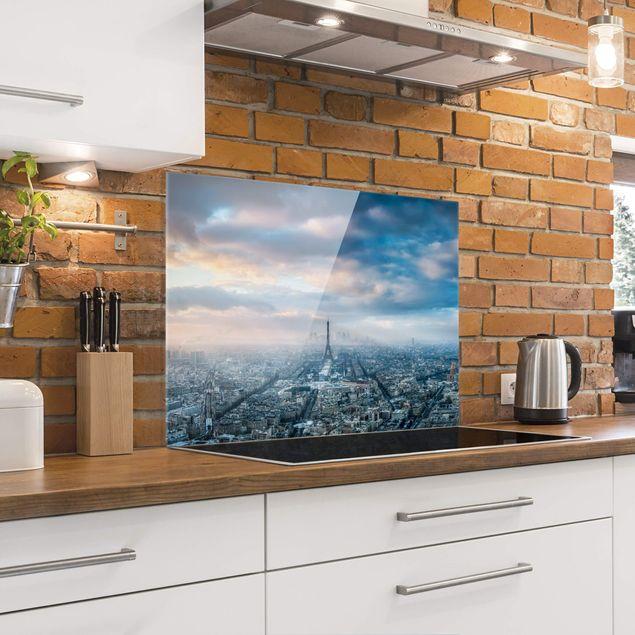 Spritzschutz Glas - Winter in Paris - Querformat 4:3