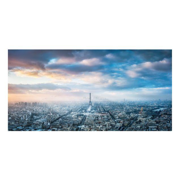 Spritzschutz Glas - Winter in Paris - Querformat 2:1