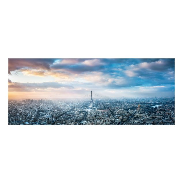 Spritzschutz Glas - Winter in Paris - Panorama 5:2